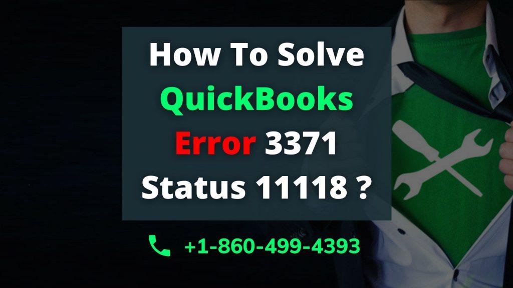 QuickBooks Error 3371 Status 11118