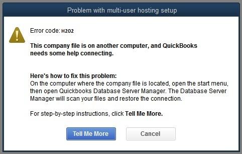 QuickBooks error h 202
