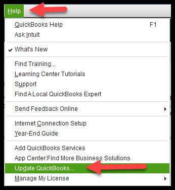 Update QuickBooks Desktop to the latest release.