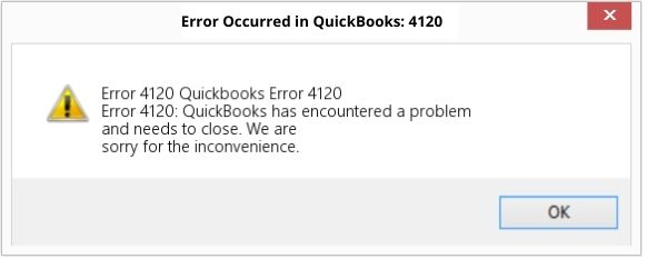 QuickBooks Error 4120